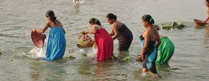 Tharu women river Bardia National Park