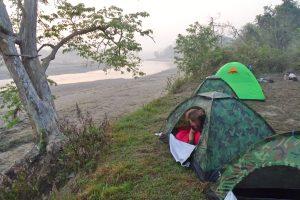 Camping Babai Karnali river bardia national park
