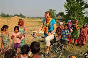 Bicycling countryside Bardia Homestay