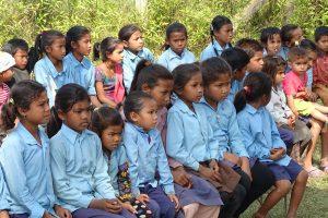schoolchildren shivapur Bardiya district