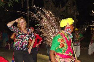 Tharu culture dancing Bardia Homestay