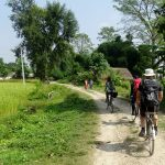 Bicycle tour countryside Bardia