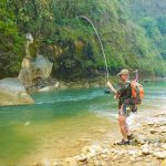 Fishing Babai river Bardia National Park Nepal