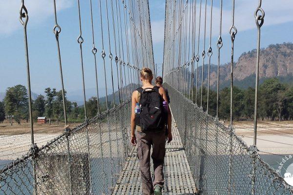 Crossing Bheri River West Nepal