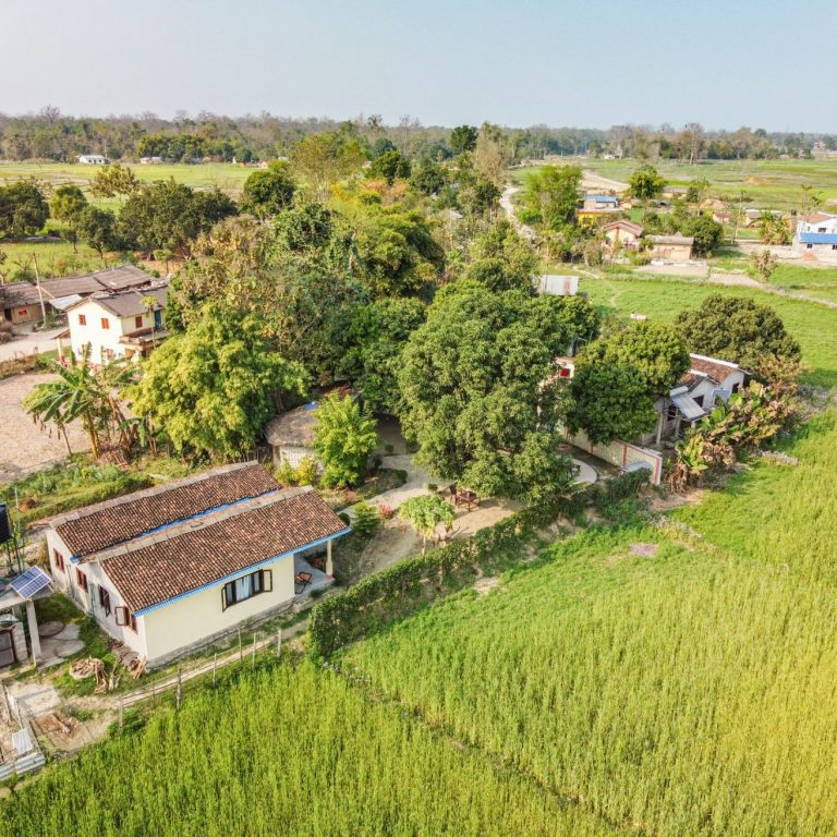 Drone view on Bardia Homestay Nepal