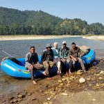 Rafting Babai river valley Bardia National Park Nepal