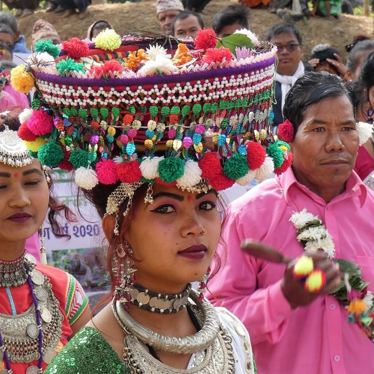 Tharu women in Tharu dress Bardia National Park