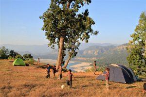 Camping Karnali river West Nepal